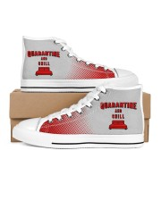 Quarantine and Chill Women's High Top White Shoes thumbnail
