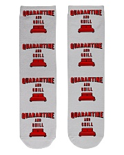 Quarantine and Chill Crew Length Socks thumbnail