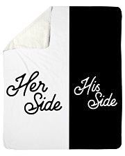 Her side His side Sherpa Fleece Blanket tile