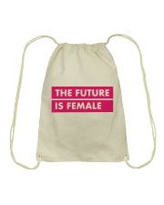 The Future Is Female Drawstring Bag thumbnail