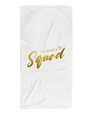 Bride's Squad Beach Towel front