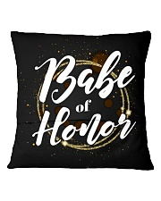Babe of Honor Square Pillowcase back