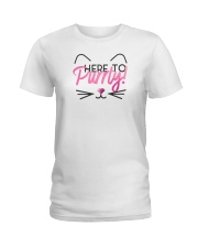 Here to Purrty Ladies T-Shirt thumbnail