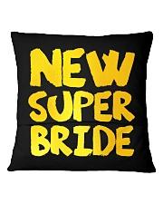 New Super Bride Square Pillowcase back