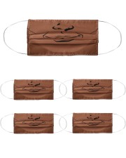 Smirk face Cloth Face Mask - 5 Pack front