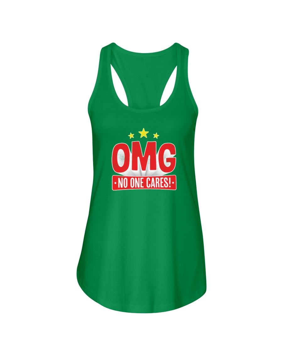 OMG No One Cares Ladies Flowy Tank