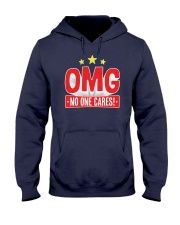 OMG No One Cares Hooded Sweatshirt front
