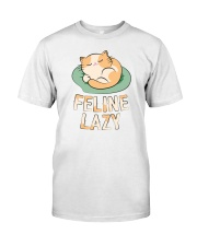 Feline Lazy Premium Fit Mens Tee tile