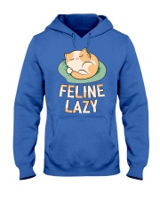 Feline Lazy Hooded Sweatshirt thumbnail