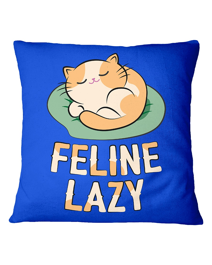 Feline Lazy Square Pillowcase