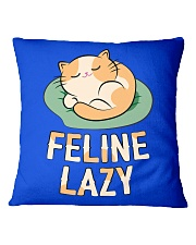 Feline Lazy Square Pillowcase front