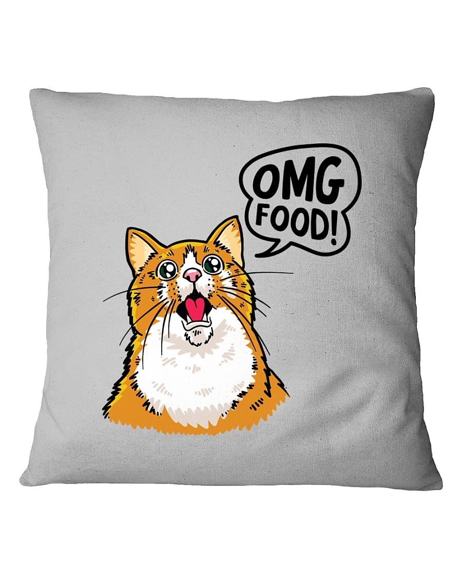 OMG FOOD Square Pillowcase
