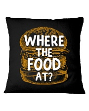 Where The Food At Square Pillowcase thumbnail