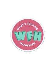 WFH - What's Fucking Happening Sticker - Single (Horizontal) thumbnail