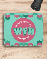 WFH - What's Fucking Happening Mousepad aos-mousepad-front-lifestyle-1