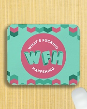 WFH - What's Fucking Happening Mousepad aos-mousepad-front-lifestyle-6