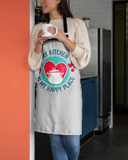 My Kitchen is my Happy Place Apron aos-apron-27x30-lifestyle-front-05