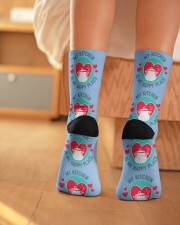 My Kitchen is my Happy Place Crew Length Socks aos-accessory-crew-length-socks-lifestyle-back-01