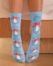 My Kitchen is my Happy Place Crew Length Socks aos-accessory-crew-length-socks-lifestyle-front-02
