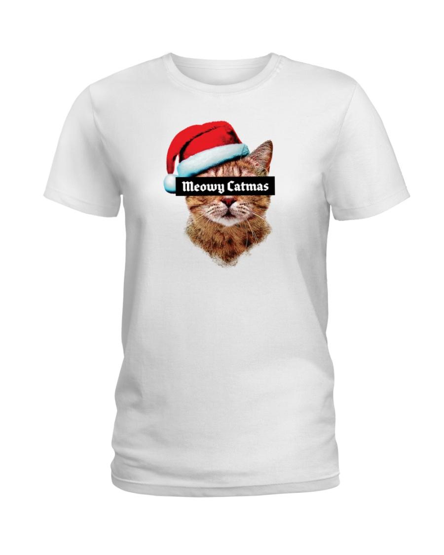 Meowy Catmas Ladies T-Shirt