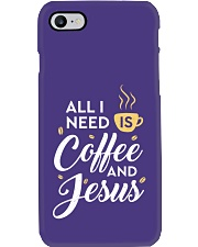 All I need is coffee and Jesus Phone Case thumbnail
