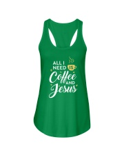 All I need is coffee and Jesus Ladies Flowy Tank thumbnail