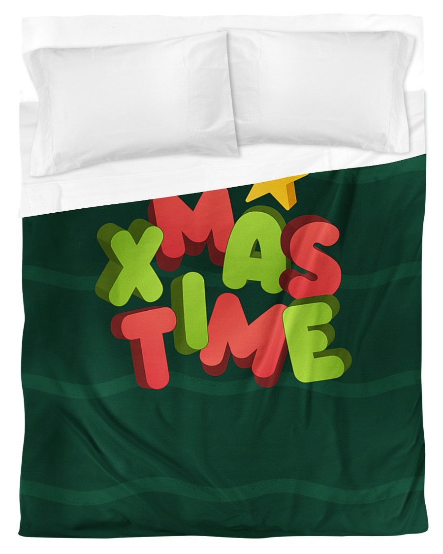 It Is Xmas Time Duvet Cover - Twin