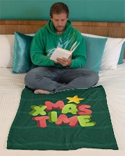 "It Is Xmas Time Small Fleece Blanket - 30"" x 40"" aos-coral-fleece-blanket-30x40-lifestyle-front-06"