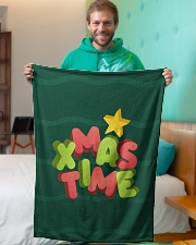 "It Is Xmas Time Small Fleece Blanket - 30"" x 40"" aos-coral-fleece-blanket-30x40-lifestyle-front-09"