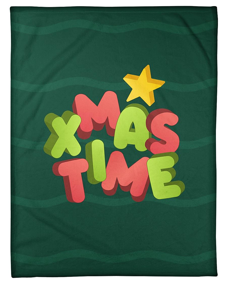 "It Is Xmas Time Small Fleece Blanket - 30"" x 40"""
