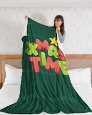"It Is Xmas Time Large Fleece Blanket - 60"" x 80"" aos-coral-fleece-blanket-60x80-lifestyle-front-11"