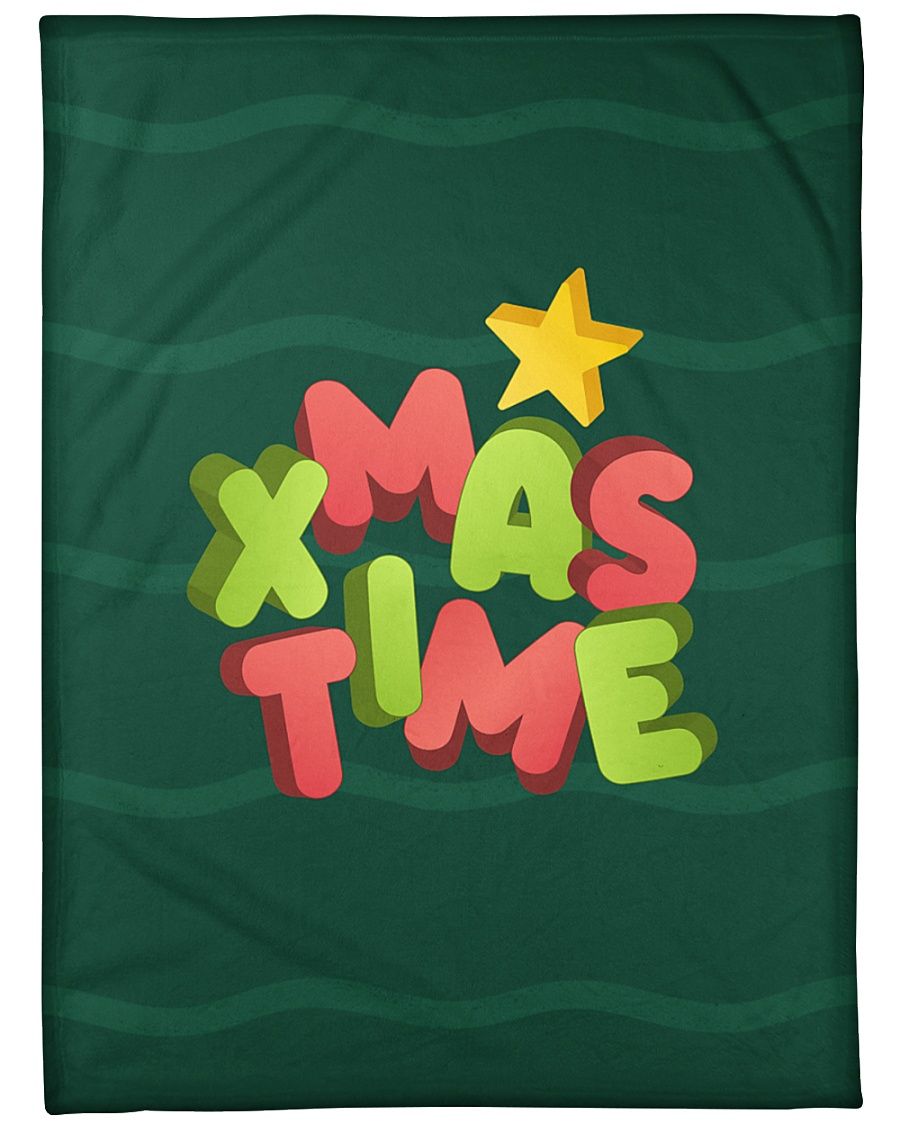 "It Is Xmas Time Large Fleece Blanket - 60"" x 80"""