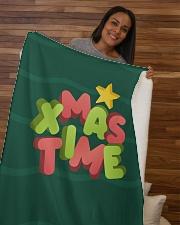 """It Is Xmas Time Sherpa Fleece Blanket - 50"""" x 60"""" aos-sherpa-fleece-blanket-50x60-lifestyle-front-09b"""