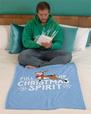 "Christmas Spirit Small Fleece Blanket - 30"" x 40"" aos-coral-fleece-blanket-30x40-lifestyle-front-06"