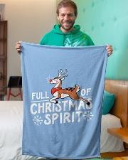 "Christmas Spirit Small Fleece Blanket - 30"" x 40"" aos-coral-fleece-blanket-30x40-lifestyle-front-09"