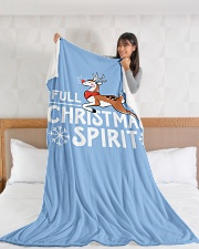 "Christmas Spirit Large Fleece Blanket - 60"" x 80"" aos-coral-fleece-blanket-60x80-lifestyle-front-11"