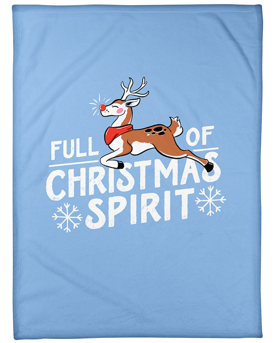 "Christmas Spirit Large Fleece Blanket - 60"" x 80"""