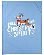 "Christmas Spirit Large Fleece Blanket - 60"" x 80"" front"