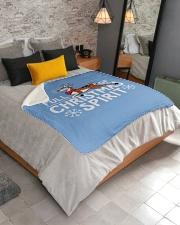 "Christmas Spirit Sherpa Fleece Blanket - 50"" x 60"" aos-sherpa-fleece-blanket-lifestyle-front-02"