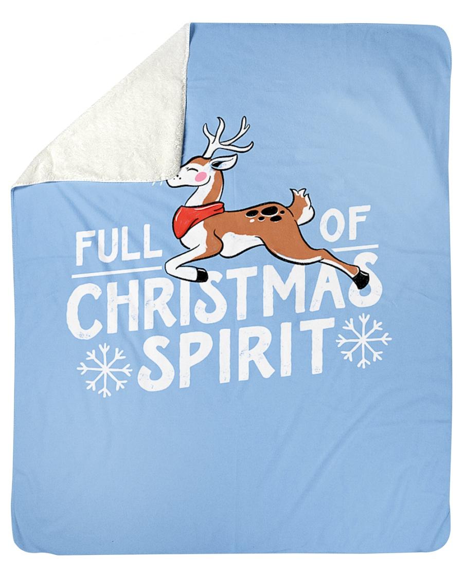 "Christmas Spirit Sherpa Fleece Blanket - 50"" x 60"""