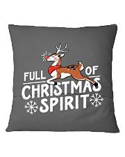 Christmas Spirit Square Pillowcase back