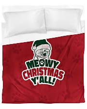 Meowy Christmas You All Duvet Cover - Queen front