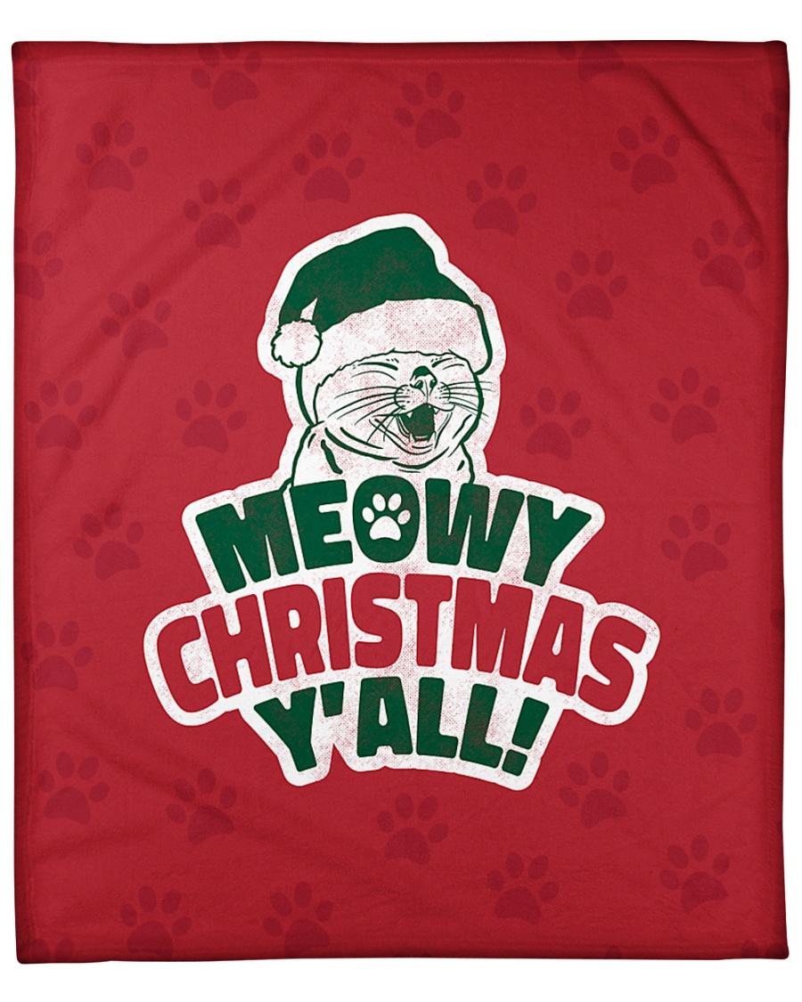 """Meowy Christmas You All Fleece Blanket - 50"""" x 60"""""""
