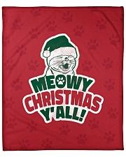 "Meowy Christmas You All Fleece Blanket - 50"" x 60"" front"
