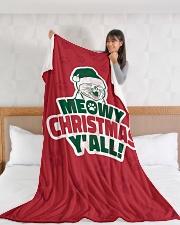 "Meowy Christmas You All Large Fleece Blanket - 60"" x 80"" aos-coral-fleece-blanket-60x80-lifestyle-front-11"