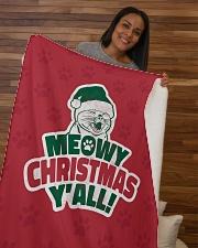 "Meowy Christmas You All Sherpa Fleece Blanket - 50"" x 60"" aos-sherpa-fleece-blanket-50x60-lifestyle-front-09b"