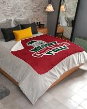 "Meowy Christmas You All Sherpa Fleece Blanket - 50"" x 60"" aos-sherpa-fleece-blanket-lifestyle-front-02"