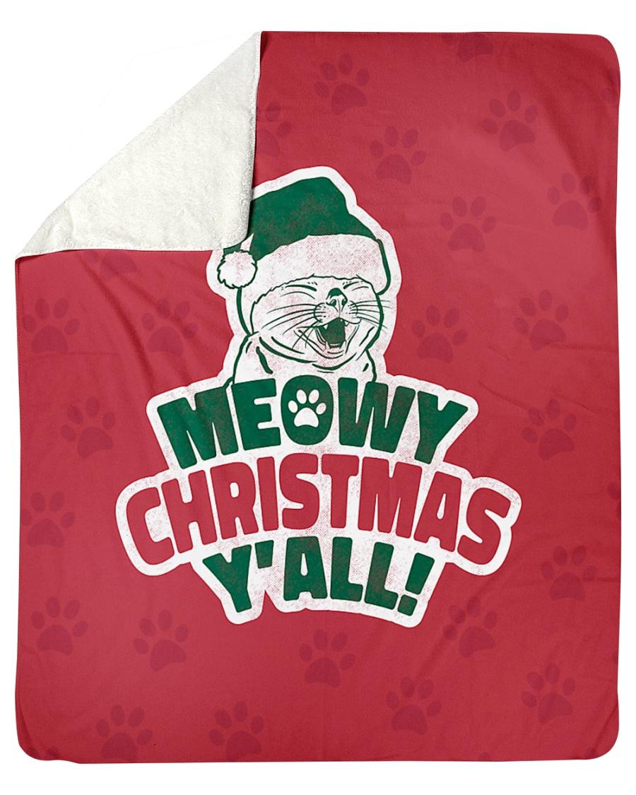 "Meowy Christmas You All Sherpa Fleece Blanket - 50"" x 60"""