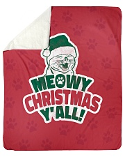 "Meowy Christmas You All Sherpa Fleece Blanket - 50"" x 60"" thumbnail"