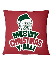 Meowy Christmas You All Square Pillowcase back